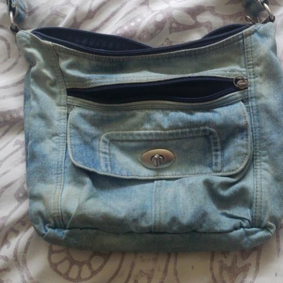 none Handbags - Vintage crossbody jean purse!